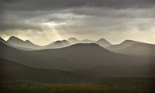 Panorama, Rain Showers And Heavy Clouds, Stirling Ranges, WA