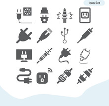 Simple Set Of Ignition System Related Filled Icons.