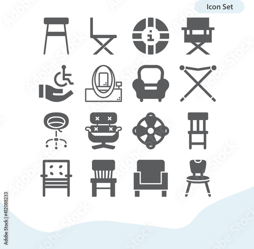 Simple set of advisory related filled icons. Wallpaper Mural