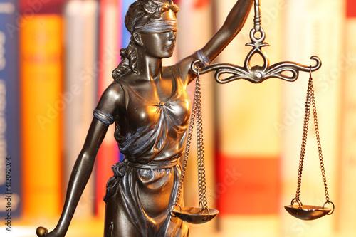 Fotografia Close-up of a Justitia as a symbol for law, justice etc.