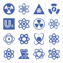 16 Pack Of Isotope  Filled Web Icons Set