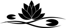 蓮の葉のシルエットマーク