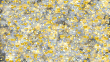 Holiday 3d Background With Silver And Gold Hearts And Shiny Particles