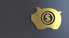 3d Render Pig Piggy Bank Symbol