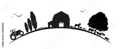 Paysage-agriculture-sur courbe © lil_22