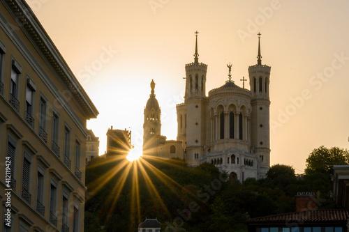 Fotografia, Obraz La basilique de Fourvière à lyon