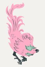 Vintage Rooster Vector Bird Clipart