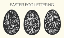 Easter Egg Clipart Set With Decorated Egg And Cute Bunny Characters.