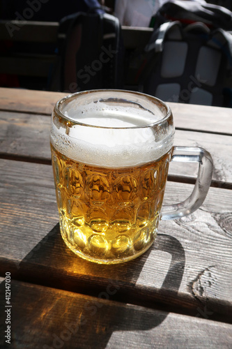 Close-up Of Beer Glass On Table © bart niël/EyeEm
