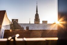 View Across The Rooftops Of Copenhagen.