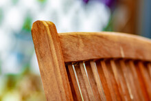Closeup Shot Of The Backrest Of A Wooden Chair
