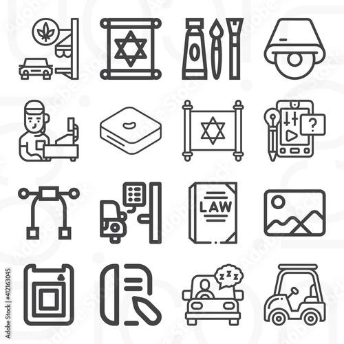 16 pack of genesis  lineal web icons set Fototapet