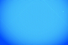 Pop Art Colorful Comics Book Magazine Cover. Polka Dots Blue Background. Cartoon Funny Retro Pattern. Vector Halftone Illustration. Template Design For Poster, Card, Flyer.