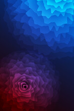 Dual Tone Glow Flower Background