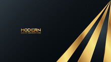 Luxury Abstract Modern Technology Background With Shiny Golden Lines And Dot Pattern