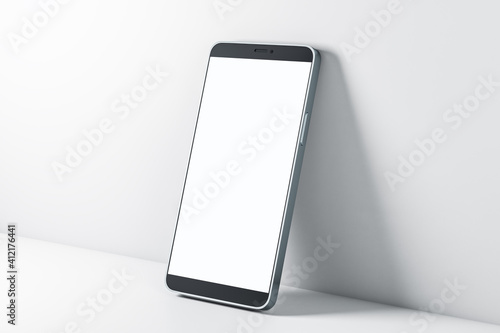 Modern blank white touch screen smartphone