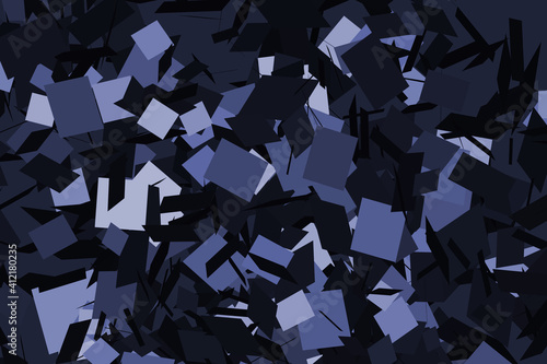 Falling down gray-blue, abstract polygons Fototapet