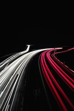 Light Trails Of Fast-moving Traffic   Light Trails At Night   Night Photography