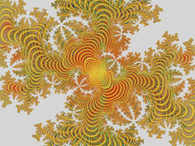 Yellow Orange Red Gray Spirals, Abstract Background With Swirls