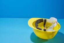Yellow Helmet Up Side Down