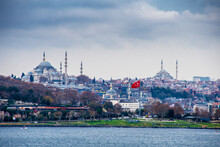 Sarayburnu District View From Bosphorus In Istanbul