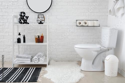 Canvastavla Stylish interior of modern restroom