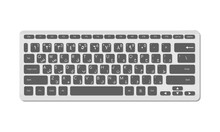 Arabic Keyboard For Computer With Symbols. A Modern Image Of A Computer Keyboard. Flat Vector Illustration