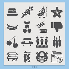 Simple Set Of Eat Related Filled Icons.