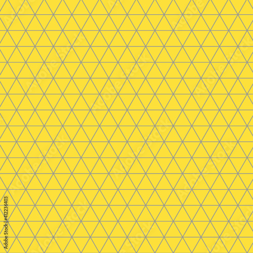 triangle-mesh-pattern-in-illuminating-yellow-and-ultimate-gray-triangle-design-in-2021-color-of-the-year