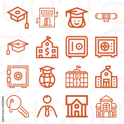 Foto 16 pack of berkeley  lineal web icons set