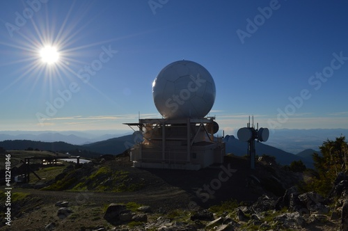 Tela Built Structure On Landscape Against Blue Sky