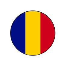 Chad Vector Flag Circle Icon For African Concepts And Themes.