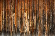 Wooden Wall Of Old Rural Barn