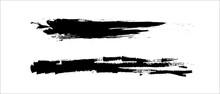 Grunge Paint Stripe Brush Strokes, Ink Dirty Stain Black On White, Splatter Ink With Hand Drawn, Brushstroke Textured