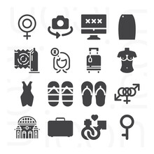 16 Pack Of Turn On  Filled Web Icons Set