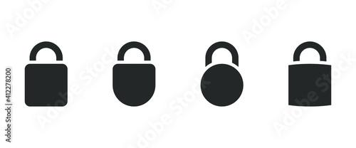 Obraz lock icon vector - fototapety do salonu