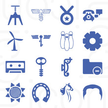 16 Pack Of Variable Quantity  Filled Web Icons Set