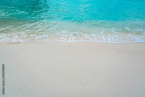 Canvas Print empty place on the seashore for copy space