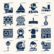 Simple Set Of Innovative Related Filled Icons.