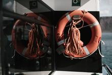 Live Saving Device Hanging Up On Ship