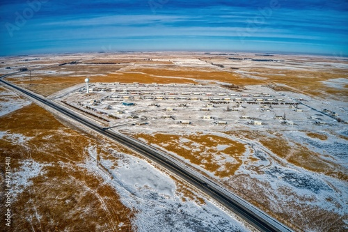Valokuva Aerial View of the Rosebud Sioux Native American Reservation in South Dakota