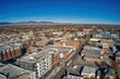 Aerial View of Downtown Loveland, Colorado during Winter