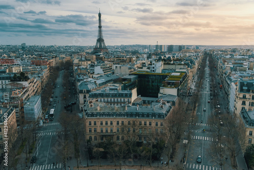 Vista de Paris desde el Arco de Triunfo