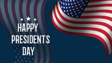 Happy President's Day  February United States America Banner Background, Vector Illustration