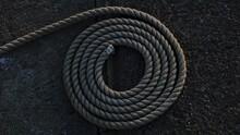 Rolled Nylon Rope Background