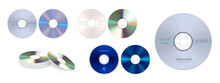 Set Of Realistic Dvd High Speed Or Cd Disc Isolated Or Stack Of Compact Disc Realistic Storage Disc Concept. Eps 10 Vector, Easy To Modify