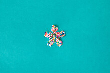 """The """"""""asterisk/star"""""""" Symbol Built From Nonpareils"""
