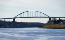 The View Of Chesapeake City Bridge Near Maryland, U.S