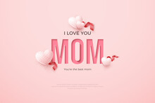 Mother's Day Background With Writing Pressed Paper.