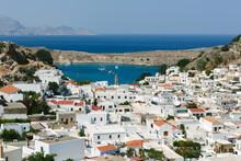 The Bay Of Lindos, Rhodes, Greece